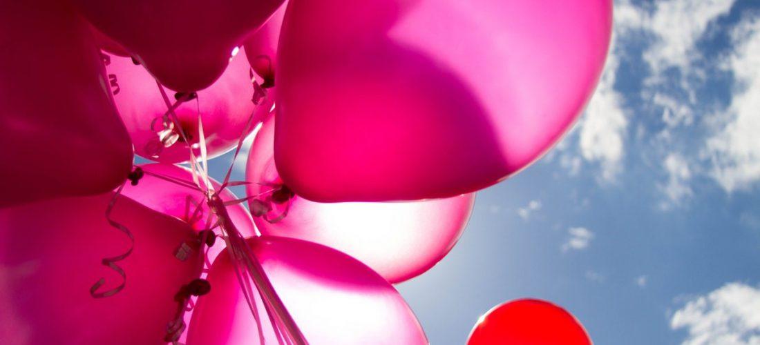 Roze ballonnen